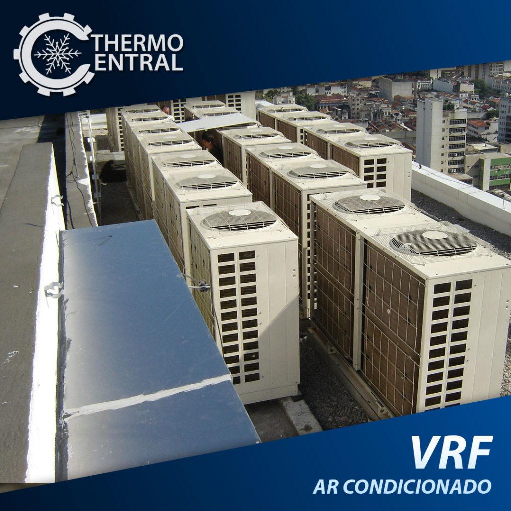 O sistema de climatização VRV/VRF (Fluxo de Gás Refrigerante Variável) é um sistema de ar condicionado central, do tipo Multi Split, que funciona com uma única condensadora (unidade externa) ligada a várias evaporadoras (unidades internas) através de um ciclo único de refrigeração, com sistema de expansão direta onde fluxo de gás refrigerante é variável